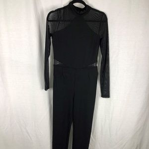Guess M Black Jump Suit Mesh Sleeves & Inserts